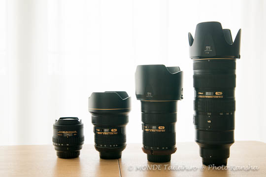 Tokina AT-X 10-17mm AF-S 14-24mm、24-70mm、70-200mmの写真