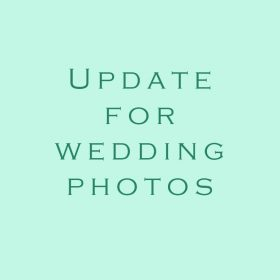 Update for wedding photos